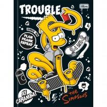Imagem - Caderno Brochura Capa Dura Universitário Simpsons 96 Folhas - Sortido (Pacote com 5 unidades)