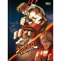 Imagem - Caderno Brochura Capa Dura Universitário Street Fighter 80 Folhas - Sortido (Pacote com 5 unidades)