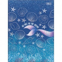 Imagem - Caderno Brochura Capa Dura Universitário Wonder 80 Folhas - As Free As The Ocean - Sortido