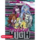 Imagem - Caderno Brochura Pauta Azul Monster High 40 Folhas - Sortido (Pacote com 10 unidades)