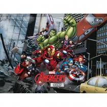 Imagem - Caderno Brochura Universitário Capa Dura Desenho Avengers 80 Folhas (Pacote com 5 unidades) - Sortido...