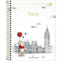 Imagem - Caderno Capa Dura Colegial Pooh 10 Matérias - Sortido (Pacote com 4 unidades)