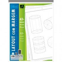 Imagem - Caderno Colado Layout A3 Branco com Margem Académie 50 Folhas