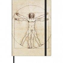 Imagem - Caderno Costurado Médio sem Pauta Cambridge Vitruviano - 78 Folhas