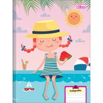 Imagem - Caderno de Caligrafia Brochura Capa Dura Sapeca Feminino 40 Folhas (Pacote com 8 unidades) - Sortido