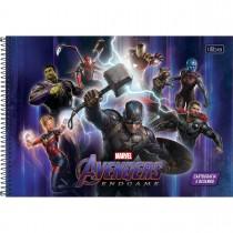 Imagem - Caderno de Cartografia e Desenho Espiral Capa Dura Avengers Endgame 80 Folhas (Pacote com 4 unidades) - Sortido...