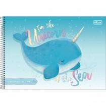 Caderno de Cartografia e Desenho Espiral Capa Dura Bubble 80 Folhas (Pacote com 4 unidades) - Sortido
