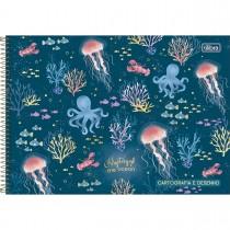 Imagem - Caderno de Cartografia e Desenho Espiral Capa Dura Bubble 80 Folhas (Pacote com 4 unidades) - Sortido...