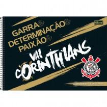 Imagem - Caderno de Cartografia e Desenho Espiral Capa Dura Corinthians 80 Folhas (Pacote com 4 unidades) - Sortido...