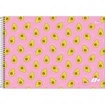 Imagem - Caderno de Cartografia e Desenho Espiral Capa Dura D+ Feminino 96 Folhas (Pacote com 4 unidades) - Sortido...
