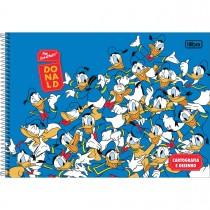 Imagem - Caderno de Cartografia e Desenho Espiral Capa Dura Donald 80 Folhas (Pacote com 4 unidades) - Sortido...