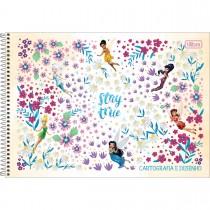 Imagem - Caderno de Cartografia e Desenho Espiral Capa Dura Fadas 80 Folhas (Pacote com 4 unidades) - Sortido