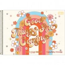 Imagem - Caderno de Cartografia e Desenho Espiral Capa Dura Gypsy 80 Folhas (Pacote com 4 unidades) - Sortido