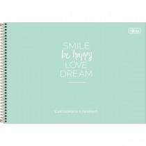 Imagem - Caderno de Cartografia e Desenho Espiral Capa Dura Happy 80 Folhas (Pacote com 4 unidades) - Sortido