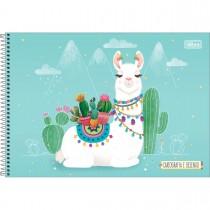 Imagem - Caderno de Cartografia e Desenho Espiral Capa Dura Hello! 80 Folhas (Pacote com 4 unidades) - Sortido...
