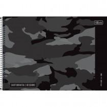 Caderno de Cartografia e Desenho Espiral Capa Dura Hide 80 Folhas (Pacote com 4 unidades) - Sortido
