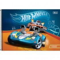 Imagem - Caderno de Cartografia e Desenho Espiral Capa Dura Hot Wheels 80 Folhas (Pacote com 4 unidades) - Sortido...