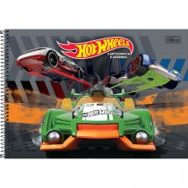 Imagem - Caderno de Cartografia e Desenho Espiral Capa Dura Hot Wheels 96 Folhas (Pacote com 4 unidades) - Sortido...