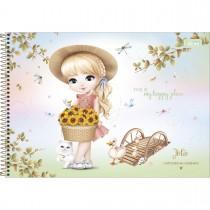 Imagem - Caderno de Cartografia e Desenho Espiral Capa Dura Jolie 80 Folhas (Pacote com 4 unidades) - Sortido