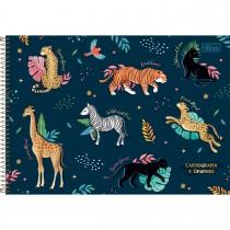 Imagem - Caderno de Cartografia e Desenho Espiral Capa Dura Jungle Heart 80 Folhas (Pacote com 4 unidades) - Sortido...