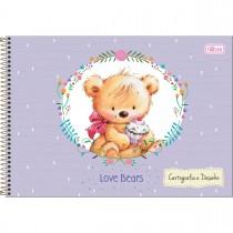 Imagem - Caderno de Cartografia e Desenho Espiral Capa Dura Love Bears 96 Folhas (Pacote com 4 unidades) - Sortido...