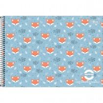 Imagem - Caderno de Cartografia e Desenho Espiral Capa Dura Masc./Fem. Pepper 80 Folhas (Pacote com 4 unidades) - Sortido...