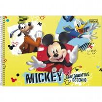 Imagem - Caderno de Cartografia e Desenho Espiral Capa Dura Mickey 80 Folhas (Pacote com 4 unidades) - Sortido...