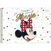 Imagem - Caderno de Cartografia e Desenho Espiral Capa Dura Minnie 80 Folhas - Minnie Rosto - Sortido