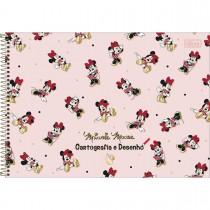 Imagem - Caderno de Cartografia e Desenho Espiral Capa Dura Minnie 80 Folhas - Pattern Minnie - Sortido