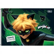 Imagem - Caderno de Cartografia e Desenho Espiral Capa Dura Miraculous: Cat Noir 80 Folhas (Pacote com 4 unidades) - Sortido...