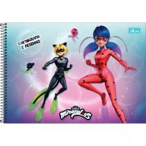 Imagem - Caderno de Cartografia e Desenho Espiral Capa Dura Miraculous: Ladybug 80 Folhas (Pacote com 4 unidades) - Sortido...
