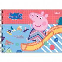 Imagem - Caderno de Cartografia e Desenho Espiral Capa Dura Peppa Pig 80 Folhas (Pacote com 4 unidades) - Sortido...