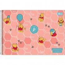 Caderno de Cartografia e Desenho Espiral Capa Dura Pooh 80 Folhas (Pacote com 4 unidades) - Sortido