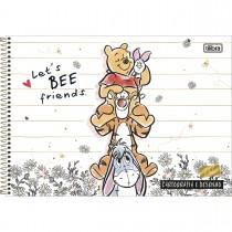 Imagem - Caderno de Cartografia e Desenho Espiral Capa Dura Pooh 80 Folhas (Pacote com 4 unidades) - Sortido