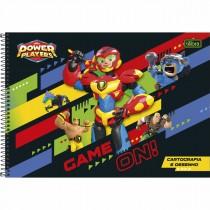 Imagem - Caderno de Cartografia e Desenho Espiral Capa Dura Power Players 80 Folhas (Pacote com 4 unidades) - Sortido...