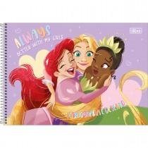 Imagem - Caderno de Cartografia e Desenho Espiral Capa Dura Princesas 80 Folhas (Pacote com 4 unidades) - Sortido...