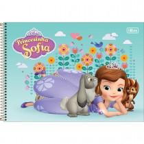 Imagem - Caderno de Cartografia e Desenho Espiral Capa Dura Princesinha Sofia 80 Folhas (Pacote com 4 unidades) - Sortido...