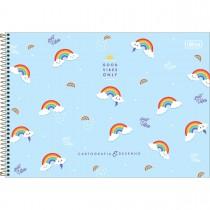 Imagem - Caderno de Cartografia e Desenho Espiral Capa Dura Rainbow 80 Folhas (Pacote com 4 unidades) - Sortido...