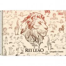 Imagem - Caderno de Cartografia e Desenho Espiral Capa Dura Rei Leão 80 Folhas (Pacote com 4 unidades) - Sortido...