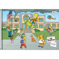 Imagem - Caderno de Cartografia e Desenho Espiral Capa Dura Simpsons 80 Folhas (Pacote com 4 unidades) - Sortido...