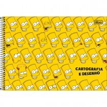 Caderno de Cartografia e Desenho Espiral Capa Dura Simpsons 80 Folhas (Pacote com 4 unidades) - Sortido