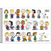 Imagem - Caderno de Cartografia e Desenho Espiral Capa Dura Snoopy 80 Folhas (Pacote com 4 unidades) - Sortido...