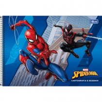 Imagem - Caderno de Cartografia e Desenho Espiral Capa Dura Spider-Man 80 Folhas (Pacote com 4 unidades) - Sortido...