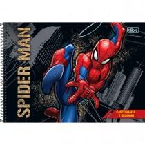 Imagem - Caderno de Cartografia e Desenho Espiral Capa Dura Spider-Man 80 Folhas - Spider-Man Fundo Cinza - Sortido...