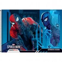 Imagem - Caderno de Cartografia e Desenho Espiral Capa Dura Spider Man Game 80 Folhas (Pacote com 4 unidades) - Sortido...