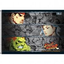 Imagem - Caderno de Cartografia e Desenho Espiral Capa Dura Street Fighter 80 Folhas (Pacote com 4 unidades) - Sortido...