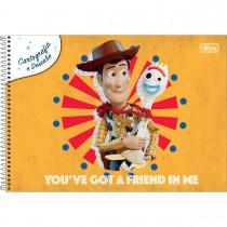Imagem - Caderno de Cartografia e Desenho Espiral Capa Dura Toy Story 80 Folhas (Pacote com 4 unidades) - Sortido...