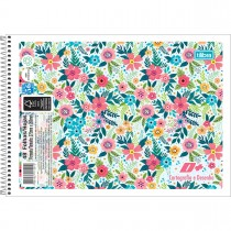 Caderno de Cartografia e Desenho Espiral Capa Flexível D+ 48 Folhas (Pacote com 10 unidades) - Sortido