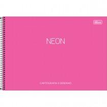 Imagem - Caderno de Cartografia e Desenho Espiral Capa Plástica Neon 80 Folhas (Pacote com 4 unidades) - Sortido...