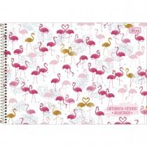 Imagem - Caderno de Cartografia e Desenho Milimetrado Espiral Capa Dura Aloha 80 Folhas (Pacote com 4 unidades) - Sortido...